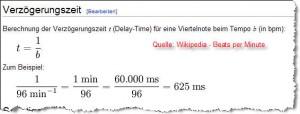 beats per minute - Quelle: wikipedia