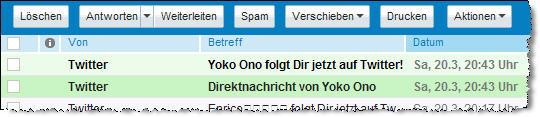 Screenshot Twitter Yoko Ono