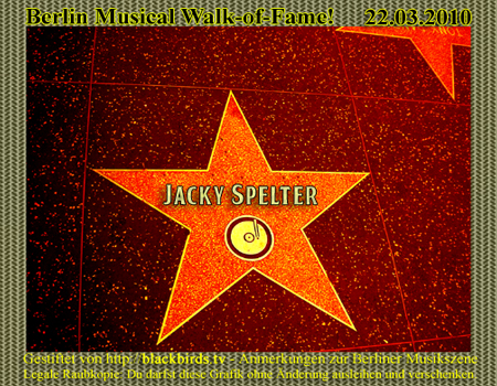 Walk of Fame 01.2010 - Jacky Spelter
