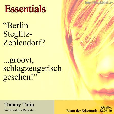 Essentials, Steglitz, Zehlendorf groovt