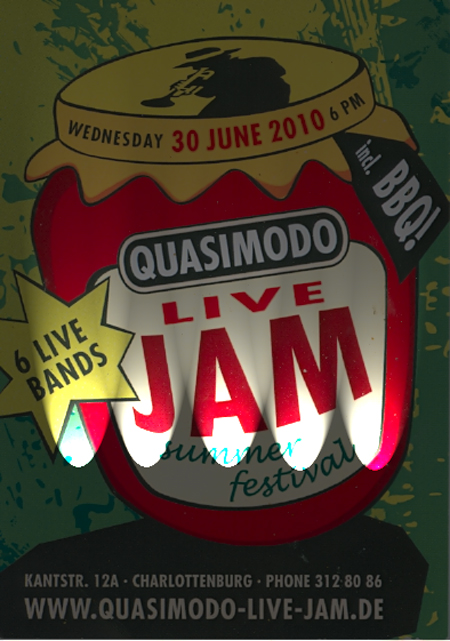 Quasimodo LiveJam - Flyer (Scan)