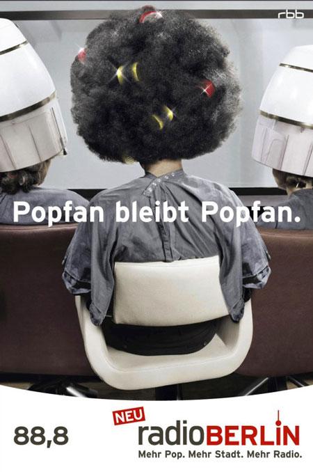 Berührende Werbung: Popfan bleibt Popfan! (Quelle: Radioberlin)