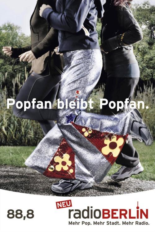 Radioberlin: Plakat Popfan bleibt Popfan!