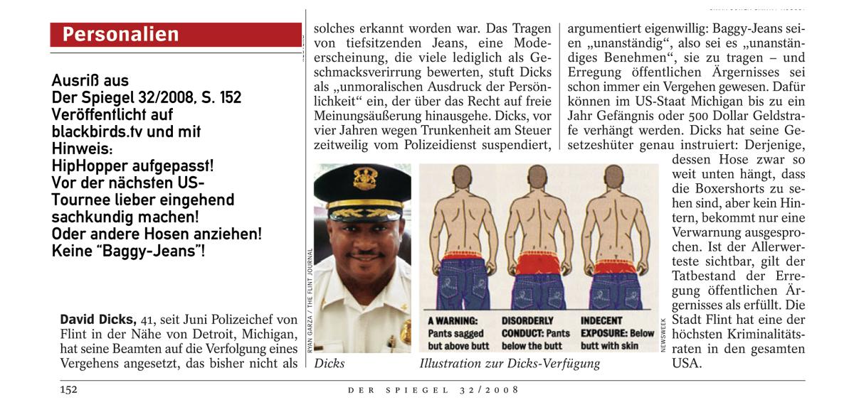 Spiegel 32/08: David Dicks - Baggy Shaggy