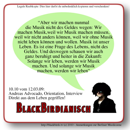 Andreas Advocado - Blackbirdianisches Wissen 10.10