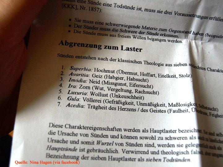 Abgrenzung zum Laster (Quelle: Nina Hagen via facebook)