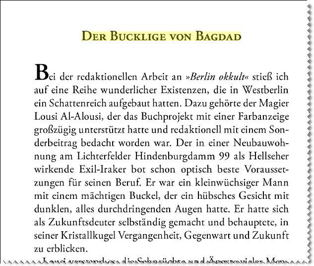 """Auszug """"Der Bücherprinz"""" - Wilhelm Ruprecht Frieling"""