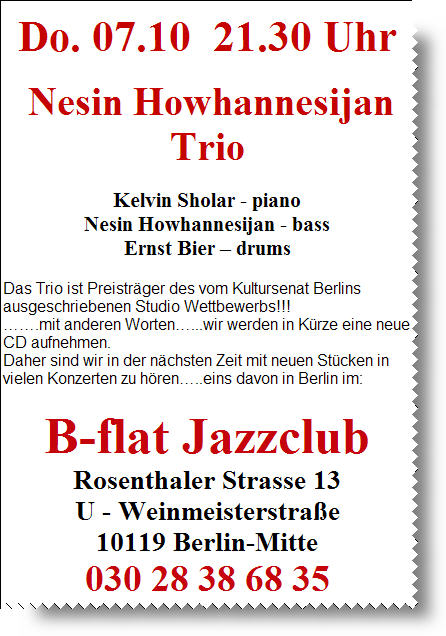 B-Flat Oktober 2010 - Nesin Howhannesijan