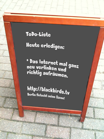 ToDo-Liste gestern, heute fehlt: Lärmschutz kippen!