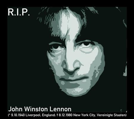 Gedenkstein: John Lennon (1940 bis 1980)