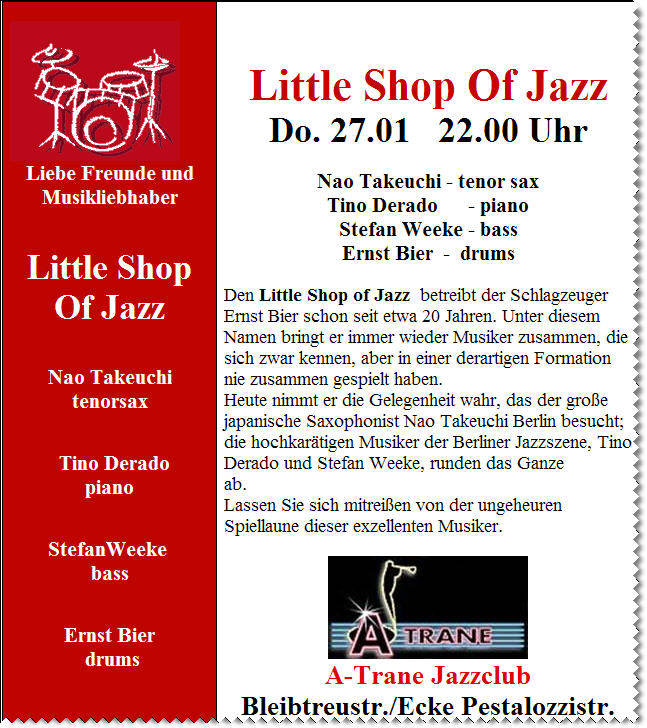Little Shop of Jazz!