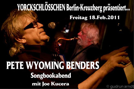 Pete W. Bender Songbookabend mit Joe Kucera