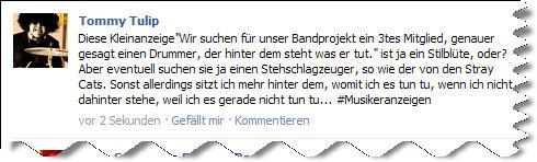 Screenshot @facebook: Über eine Kleinanzeige