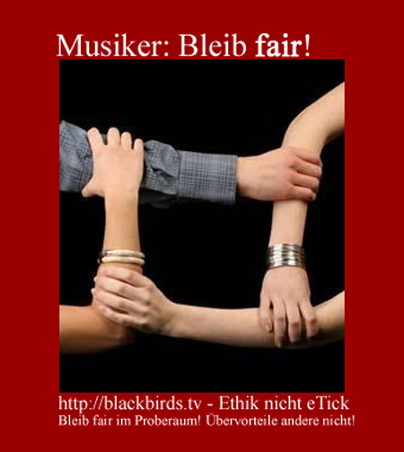 Musiker: Bleib fair!