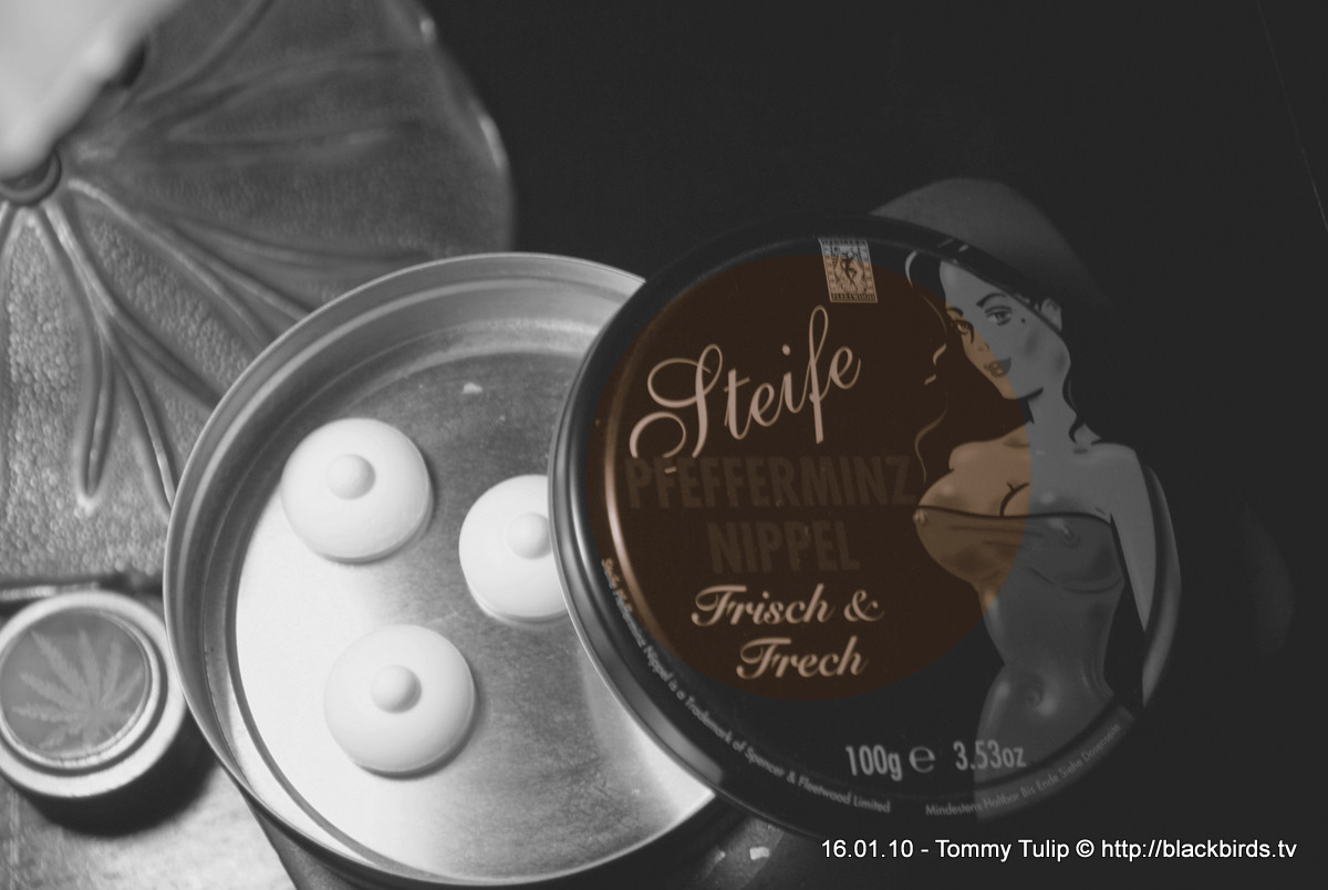 Steife Pfefferminznippel - frisch & frech