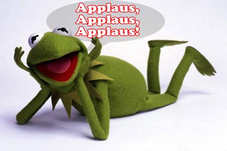Applaus, Applaus, Applaus - Kermit, der Redaktionsfrosch