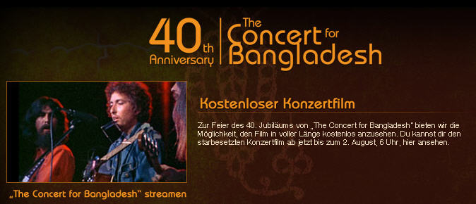 Concert for Bangladesh, Screnshot