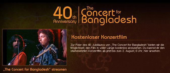 Concert for Bangladesh, Screnshot