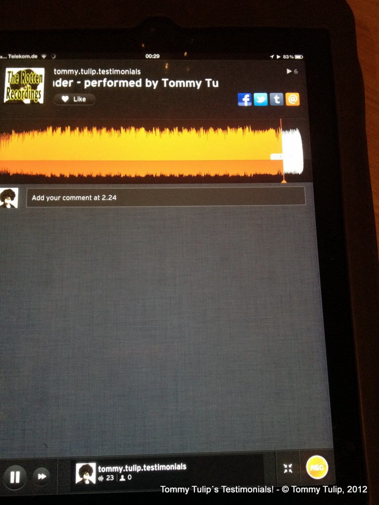 The Rotten Recordings - performed by Tommy Tulip & Soundcloud