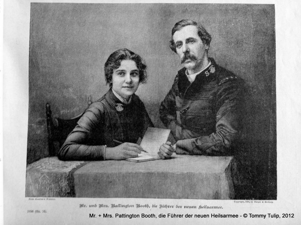 Mr. + Mrs. Pattington Booth, die Führer der neuen Heilsarmee