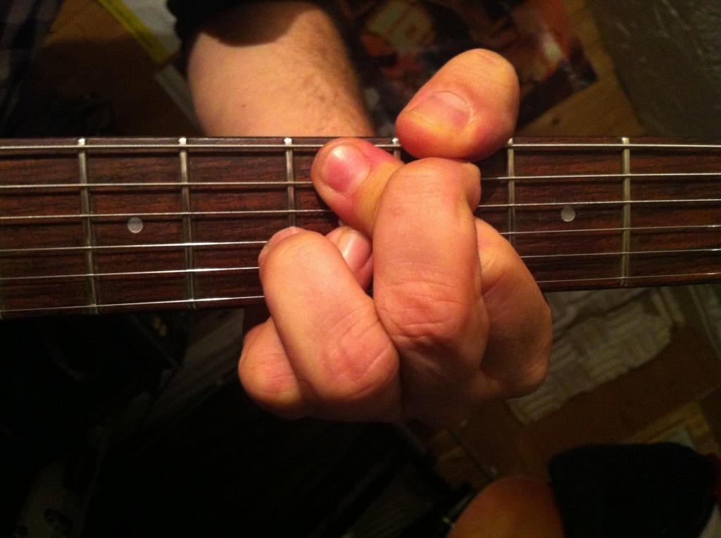 Gitarrengriff: Schiß-Moll