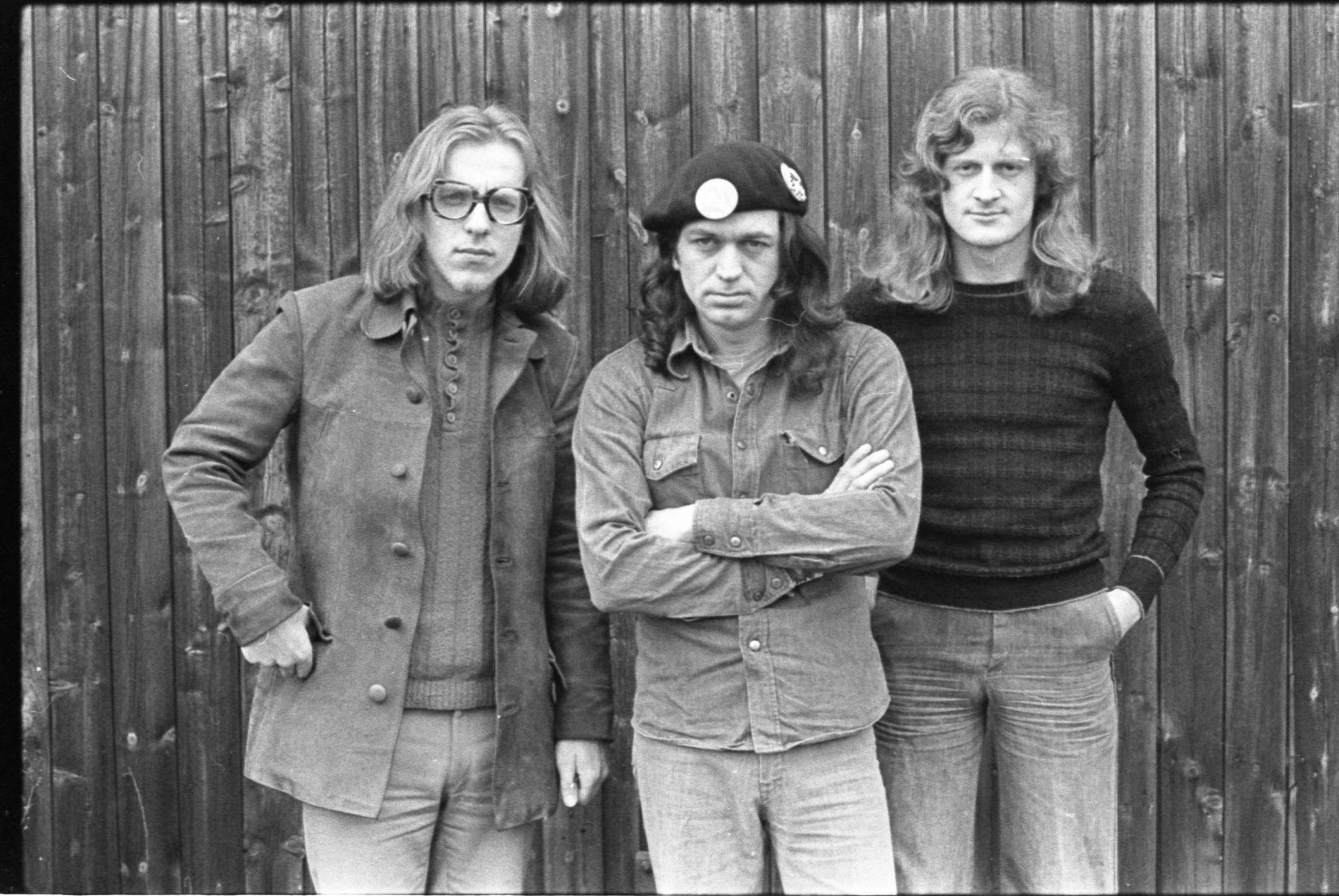 v.l.n.r. Eberhard Klunker, Pete Wyoming Bender, Hansi Biebl