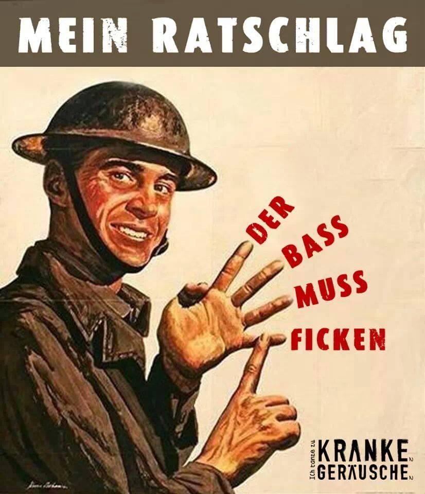 """Philosophisches Sujet: """"Der Bass muss ficken!"""""""
