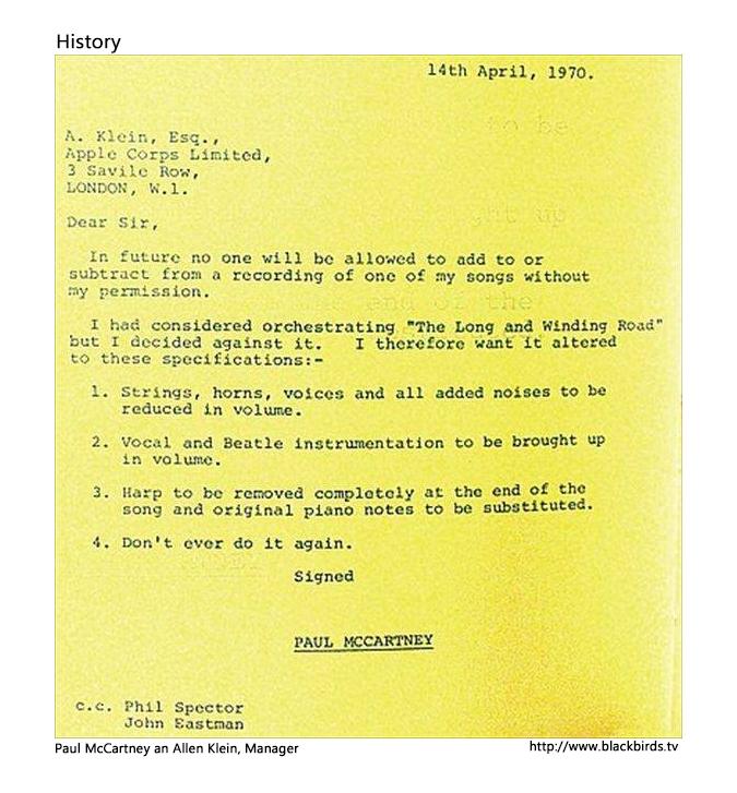 Paul McCartney an Allen Klein