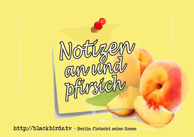 Notizen an und Pfirsich #Banner