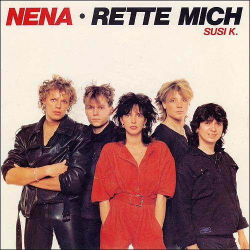 """Plattenhülle von """"Rette mich"""" - NENA"""