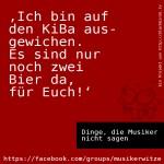 #DdMns 04 KiBa statt Bier