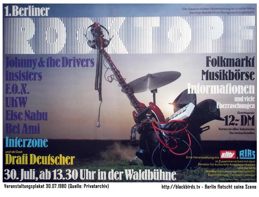 1. Berliner Rocktopf am 30. Juli 1980 Waldbühne