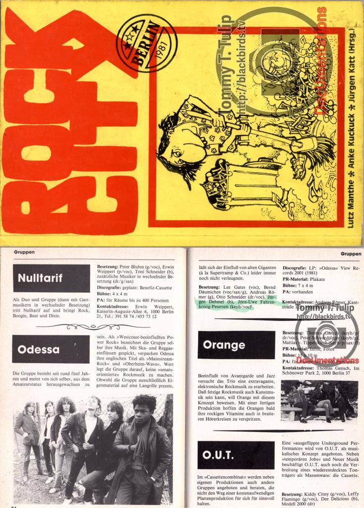 Odessa, Scan aus Rock City (Ausgabe 1981)