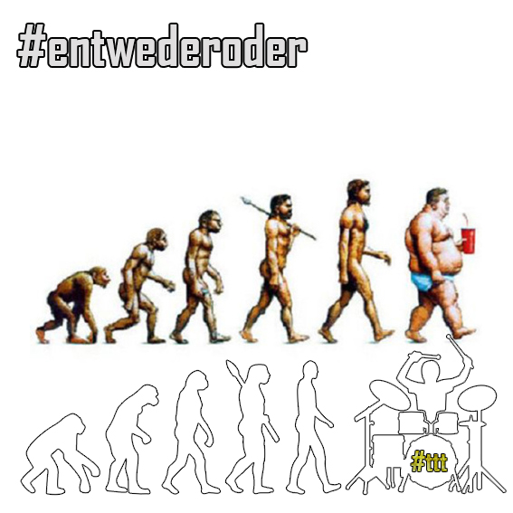 The Evolution #entwederoder #Pictuality #drummersunited