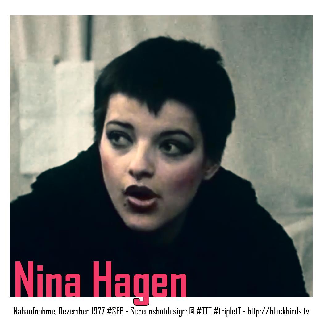 Nina Hagen - Nahaufnahme, Dezember 1977 #SFB - Screenshotdesign: © #TTT #tripletT - http://blackbirds.tv