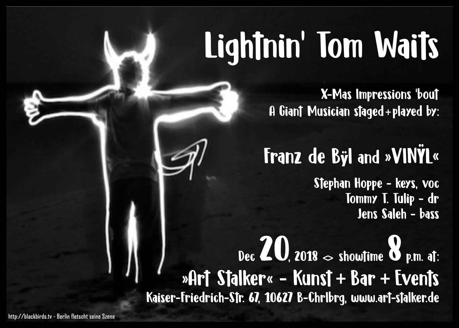 Lightnin' Tom Waits - Franz de Bÿl & Vinÿl 20.12.2018 at Art Stalkers, Berlin