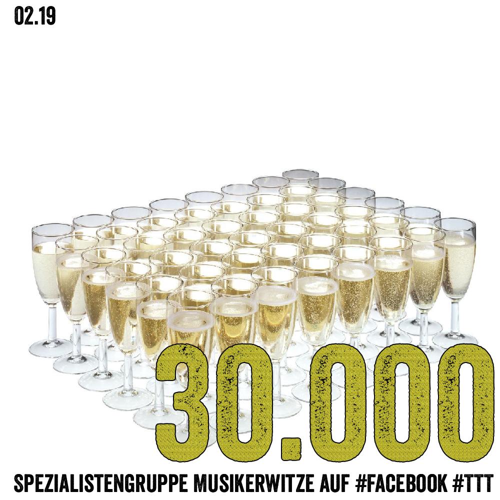 30.000 Mitglieder (Spezialistengruppe Musikerwitze auf #facebook)