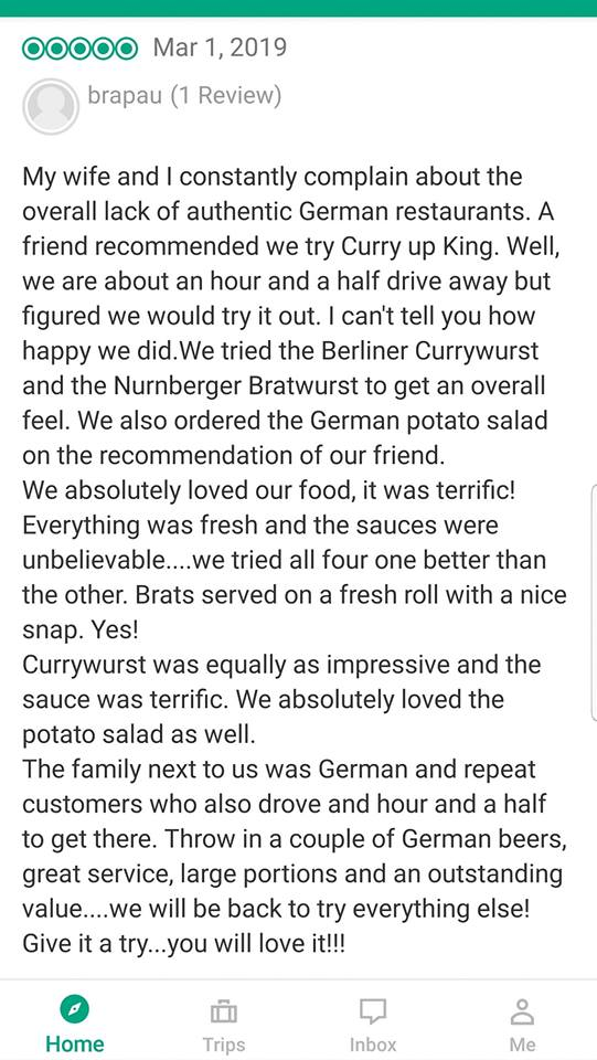 Jürgen Wochniks Currywurst - Gastrorezension (Screenshot)