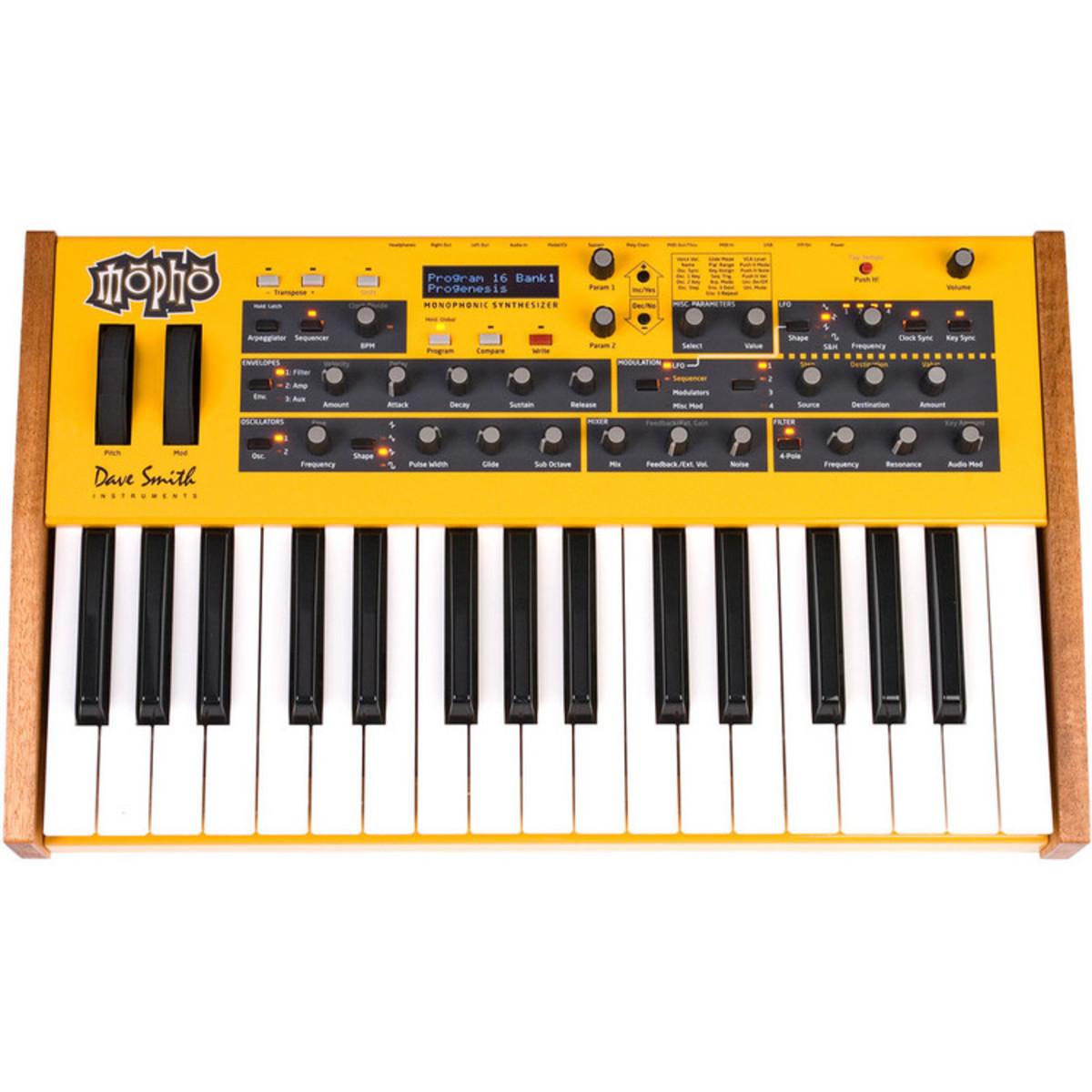 """Dave Smith Instruments """"Mopho"""" - Analoger Synthesizer Produktbild (Quelle Hersteller), nicht mehr erhältlich"""