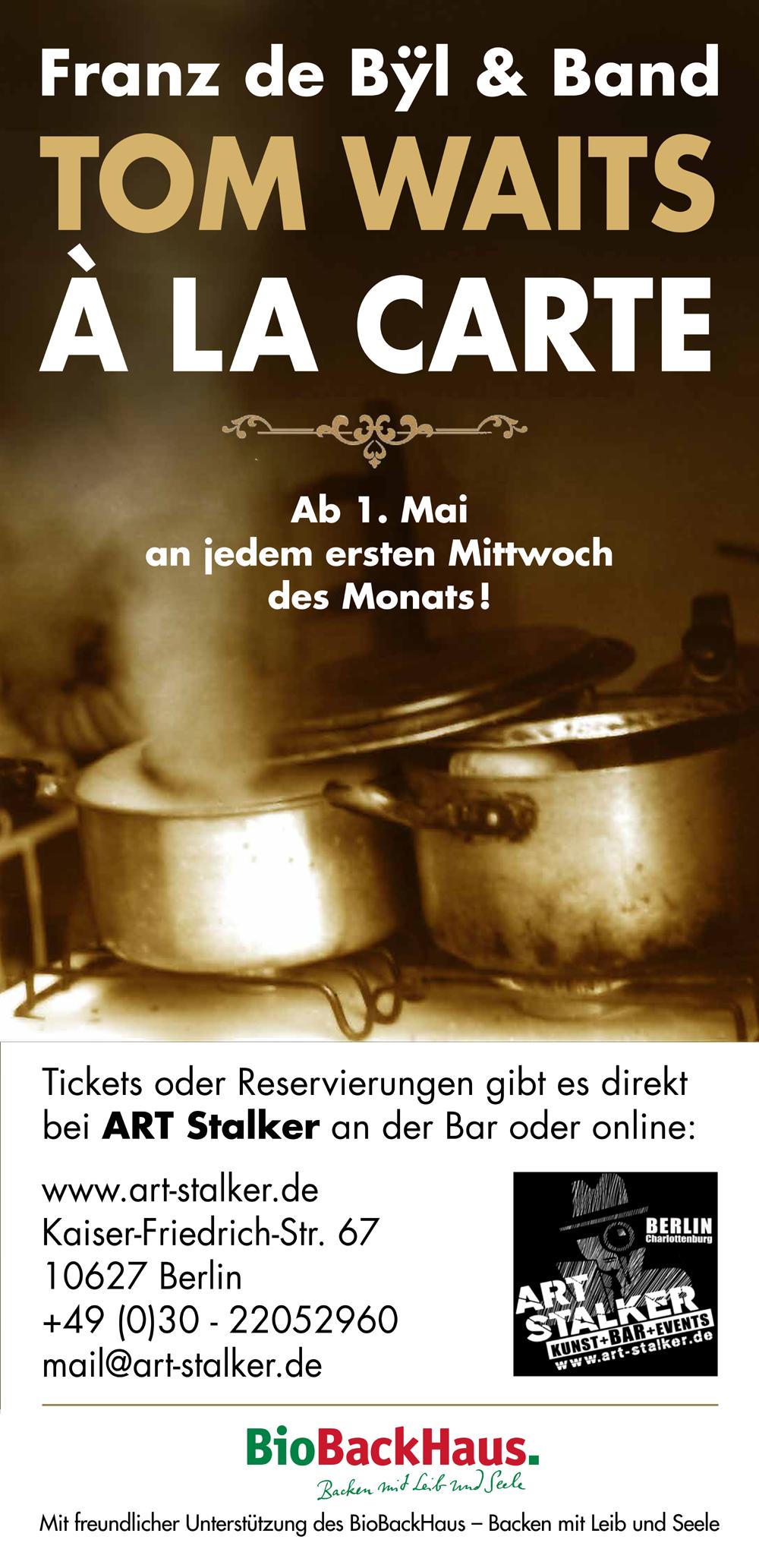 Tom Waits á la carte - Art Stalker (Jeden 1. Mittwoch/Monat ab 01.05.19)