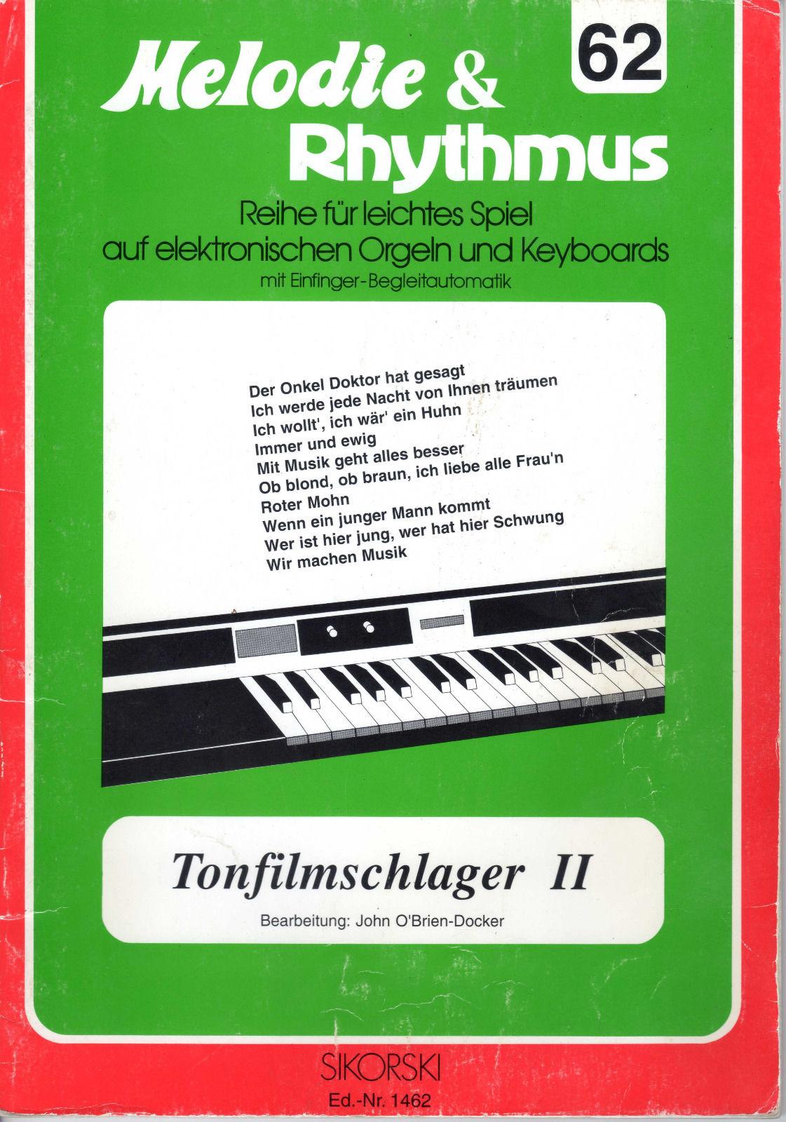 Melodie & Rhythmus #62 Tonfilmschlager II Notenheft
