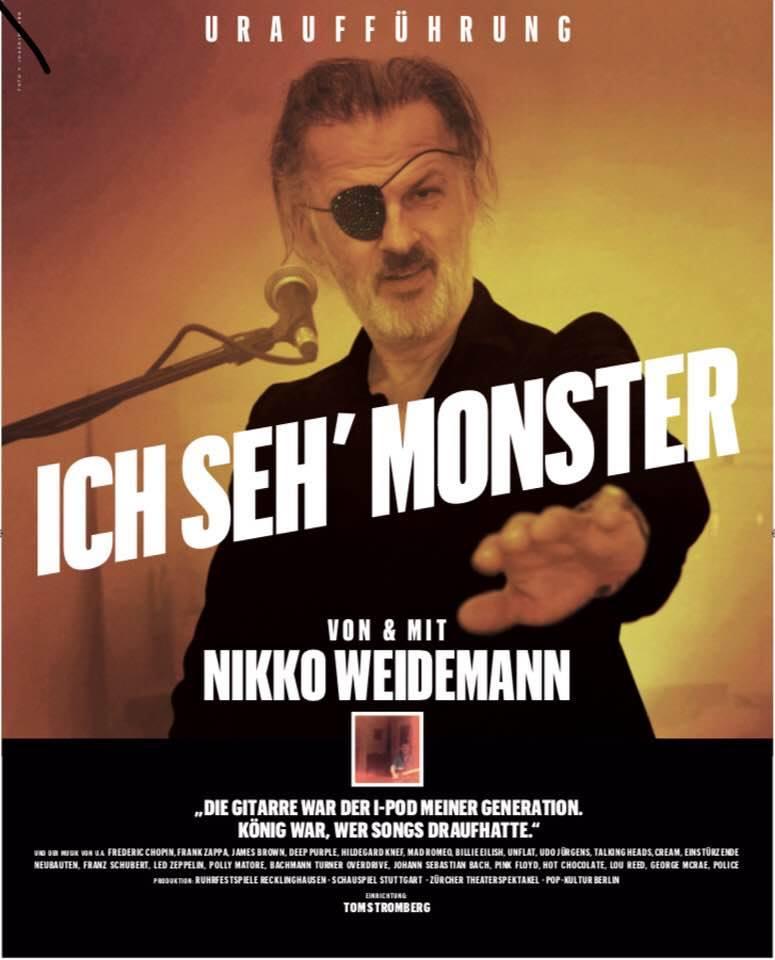 """""""Ich seh Monster"""" Nikko Weidemann - Uraufführung (Plakat)"""
