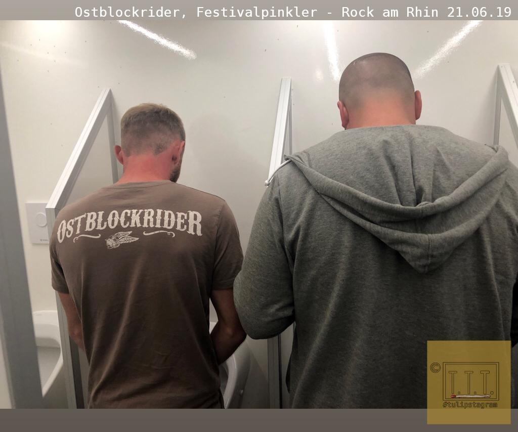 Ostblockrider, Festivalpinkler #RockamRhin 21.06.19 #tulipstagram