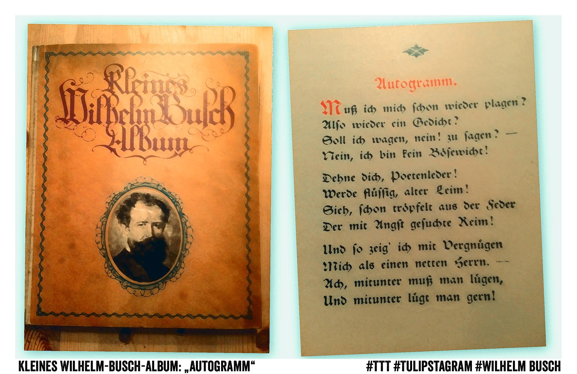 """21.01.15 - Kleines Wilhelm-Busch-Album """"Autogramm"""" #TTT #Tulipstagram #WilhelmBusch"""