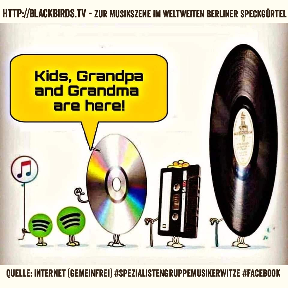 """Kids, Grandpa and Grandma are here"" #Spotify #CD #Tape #Record (Quelle: Internet)"