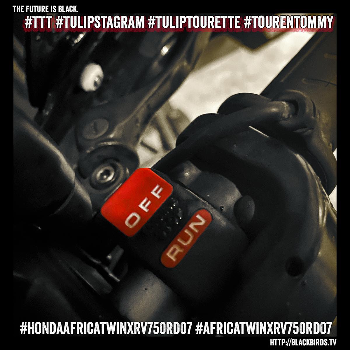 21.10.19: The Future is black. #HondaAfricaTwinXRV750RD07 #AfricaTwinXRV750RD07 #TTT #Tulipstagram #Tuliptourette #Tourentommy
