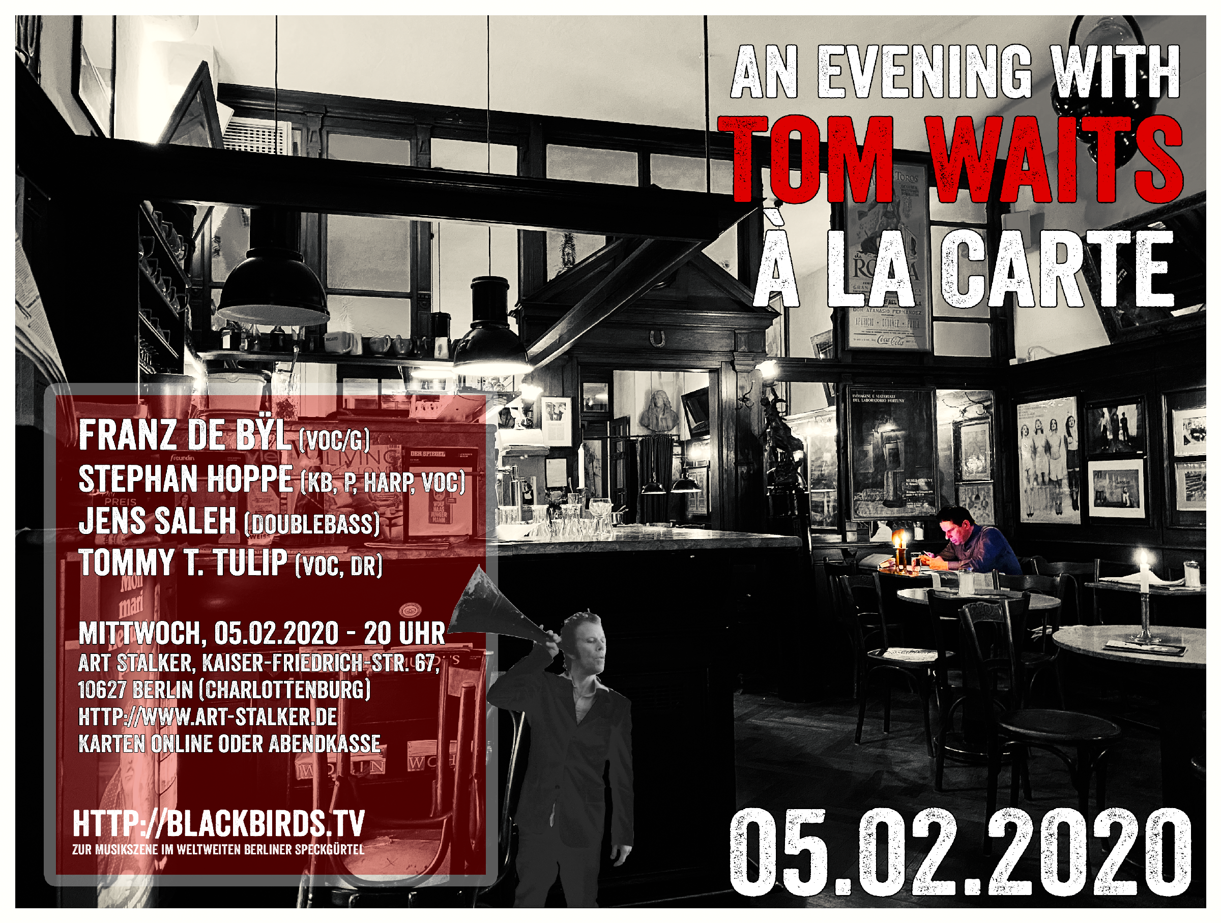 Tom Waits à la Carte - 05.02.2020 #Veranstaltung #LiveMusik #ArtStalkerBerlin