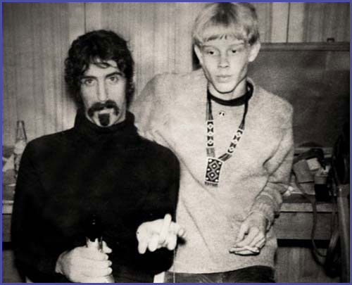 John Vaughan, Frank Zappa (Foto: Privatarchiv John Vaughan - The 60ties, Homepage)