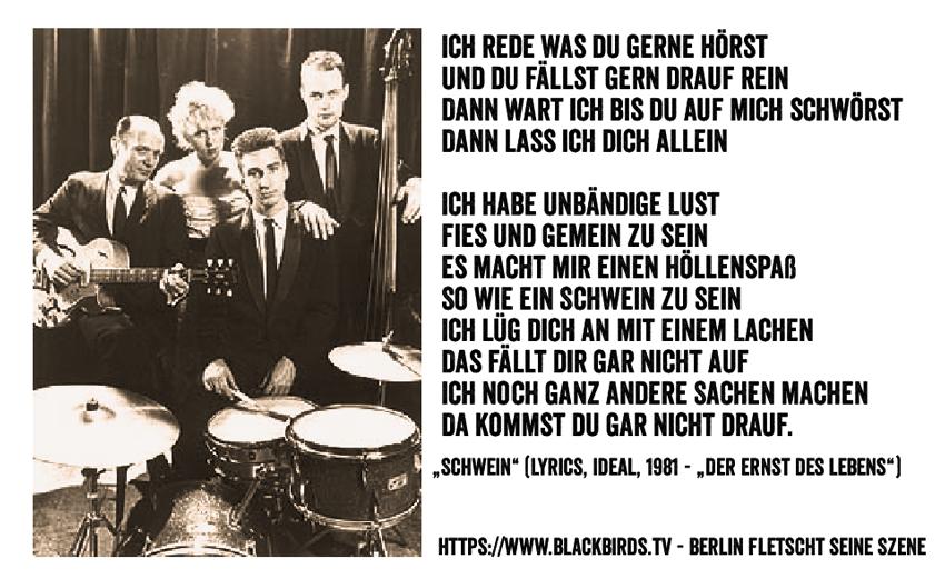 """Ideal Lyrics """"Schwein"""" - Der Ernst des Lebens #TTT #Tulipstagram"""