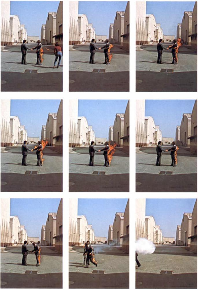 12.09.21 via #Twitter (Account Pink Floyd, official) Fotoarbeiten zu Wish You Were Here